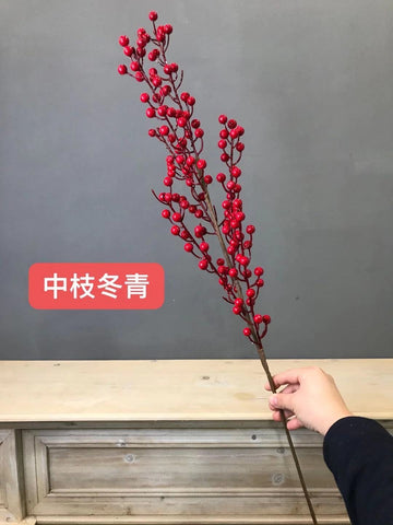 New long stem Red BERRY ARTIFICIAL FLOWER