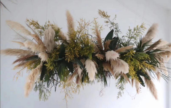 Preserved pampas grass