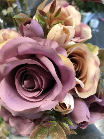 New fall color Purple Roses Artificial Flower R135