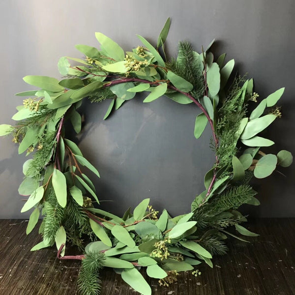 Green artificial Eucalyptus leaf Garland wedding greenery Runner