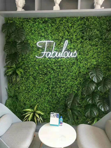 green backdrop wall panel