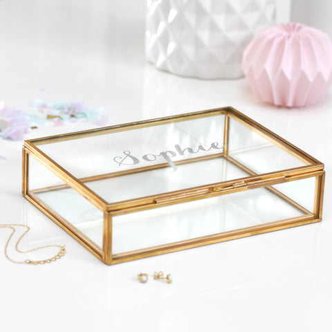 Geometric Rectangular Ring Box Jewelry Box