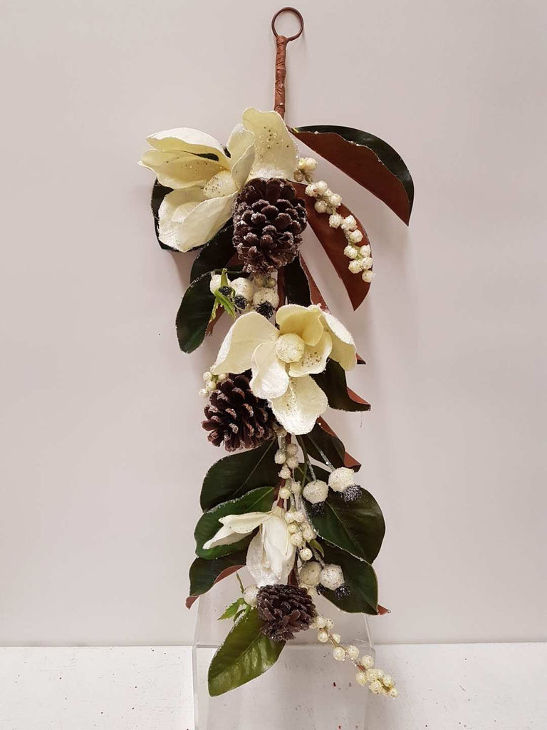 Artificial Flower Garland with Magnolia White - Viva La Rosa