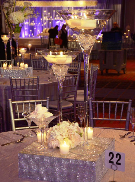 "Wedding Vases Wholesale Martini Vase 24""x10"" Clear Glass - Richview Glass Wedding Supplies"