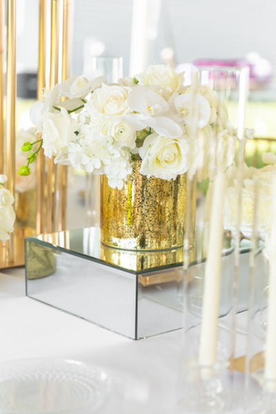 "Mirror Riser Glassware Wholesale Wedding Centerpiece (12""x12""x4"")"