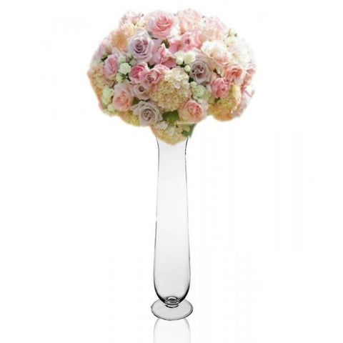 "17.5"" Tall Clear Vase MV913 - Viva La Rosa"