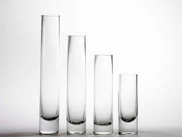 "14""x4"" simple centrepieces Cylinder Glass Vase - Viva La Rosa"