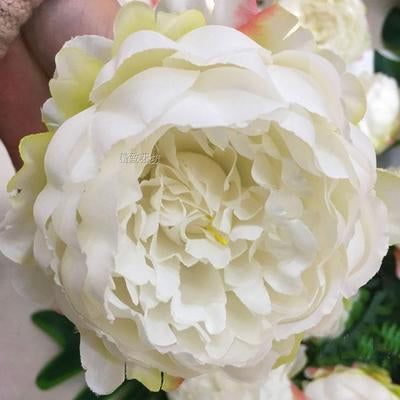 10xCream Peony FLOWER ARTIFICIAL FLOWER HEAD WEDDING peonies - Viva La Rosa