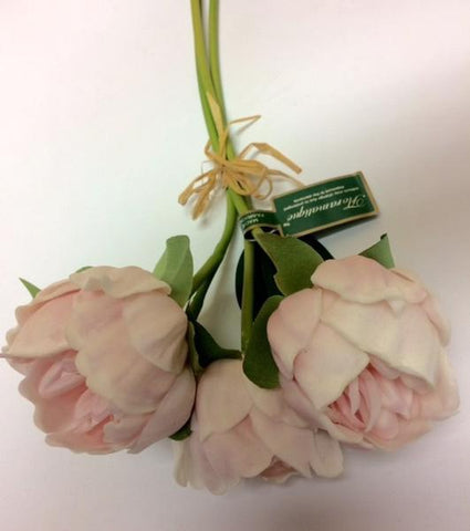 Peony Bunch Real Touch Artificial Flower floramatique SB212 Pink
