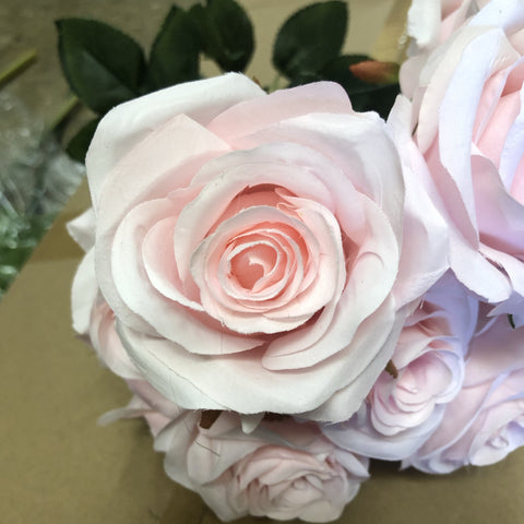 10 head Dusty Pink Rose Artificial flower rose - Viva La Rosa