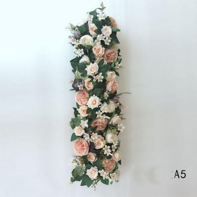 Table Runner Artificial Flower Rose Hydrangea Arrangement A5