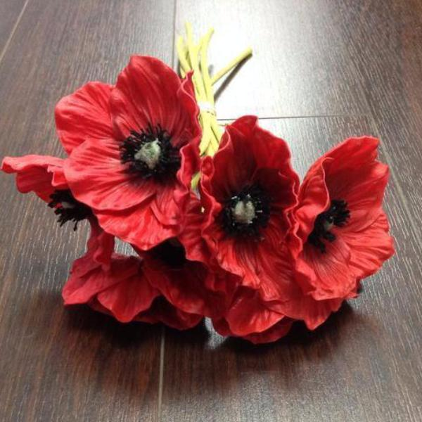 Poppy Black eye Susan bunch 6/bunch PU Material Floramatique Real Touch SB221 - Richview Glass Wedding Supplies