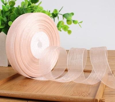 "Sheer Ribbon roll 3/4"" wide 45 meter roll (Champange) SHE3"