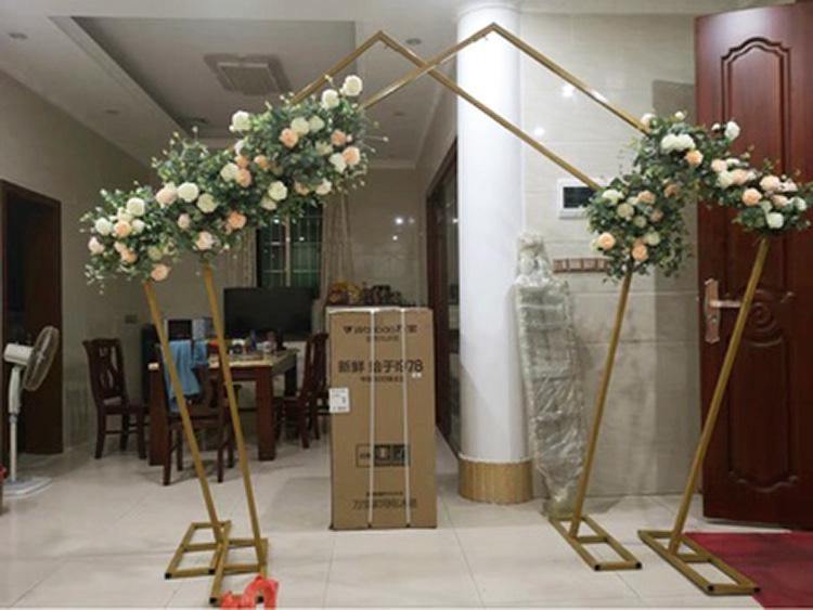 Gold Pentagon Metal Backdrop Stand Arch 2.5mx2.5m