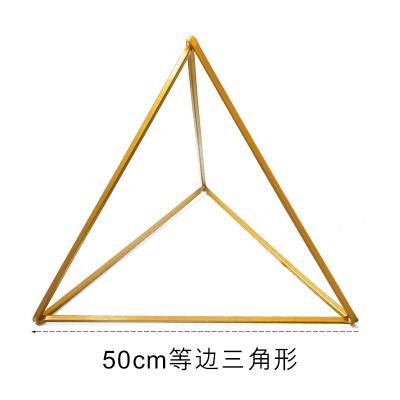 Modern Triangle Stand Metal Gold Geometric Vases 20""