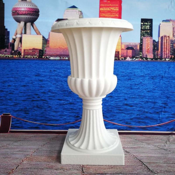 Plastic Tall urn White