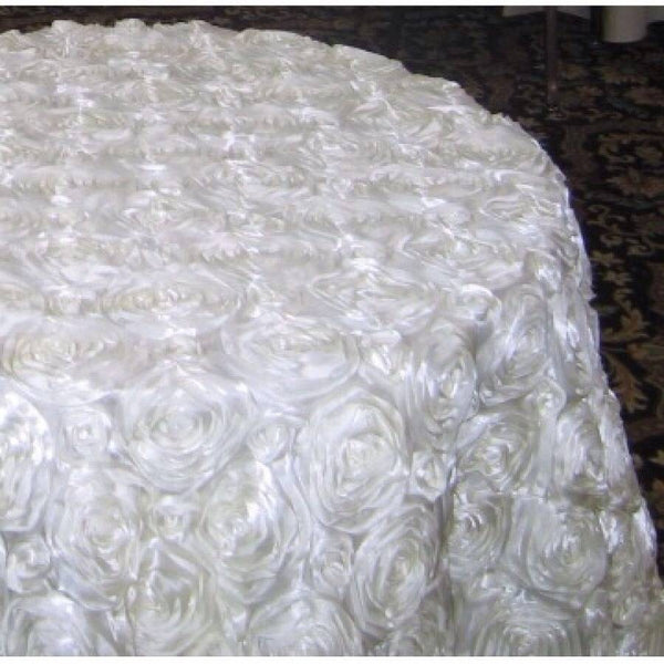 "Tablecloth visa damask 120"" round or 90x156"""