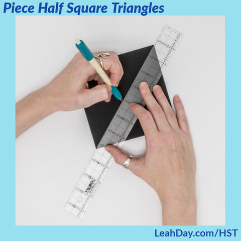 how to make half square triangles for beginners