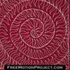 Flame Spiral machine quilting video