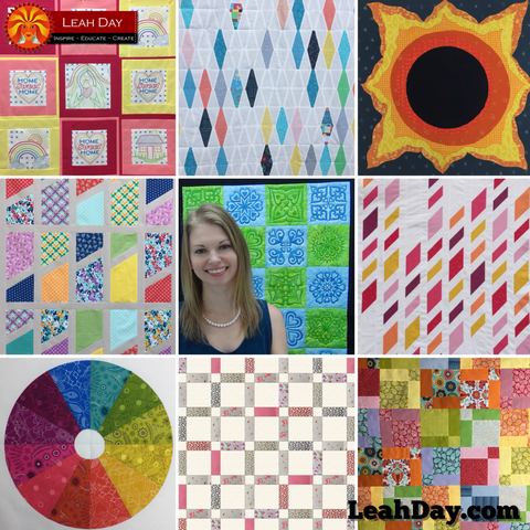 free quilt patterns by Leah Day