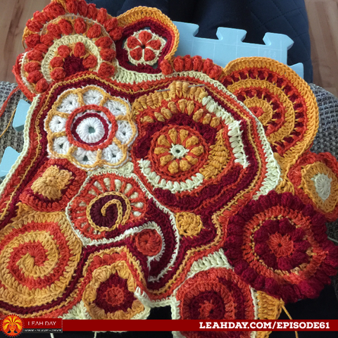 Freeform crochet by Leah Day
