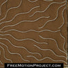 free motion quilt design water plants