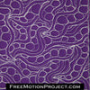 free motion quilting design tangled snakes