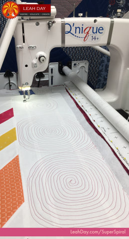 How to machine quilt super spiral