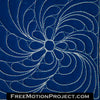 free motion quilt design spinning daisy