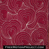free motion quilting heart flow