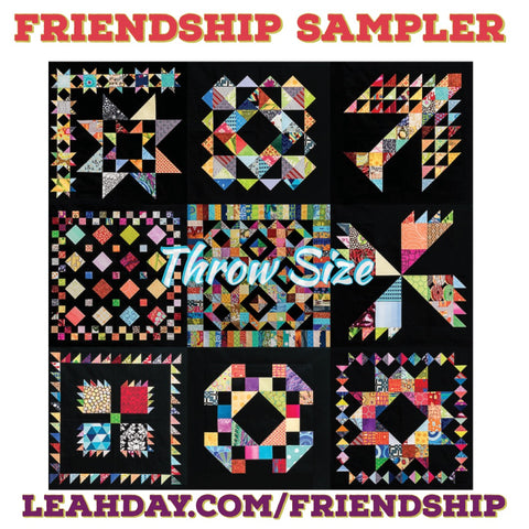 Leah Day Friendship quilt along throw size