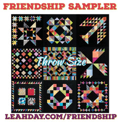 Friendship Sampler Quilt Throw Size