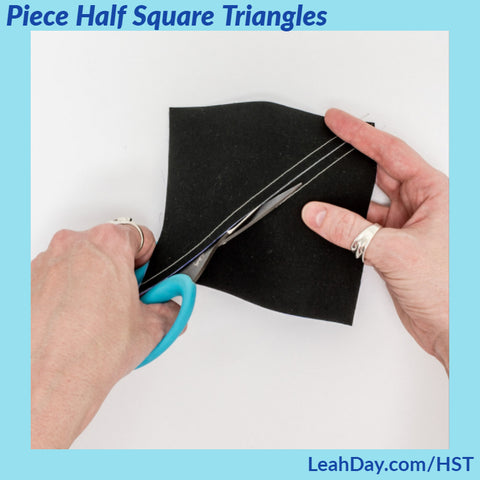 how to make half square triangles | beginner quilting tutorial