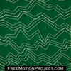 jagged lines free motion quilting design