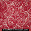 cracked paisley free motion quilting design