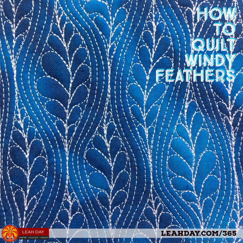 How to free motion quilt windy feathers