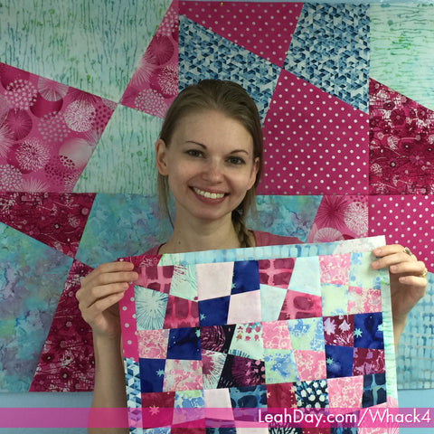 Stack and Whack Four Patch Quilt Tutorial | LeahDay com