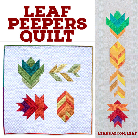 Leaf Peepers quilt, wall hanging or table runner
