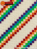 walking foot baby quilt prism path