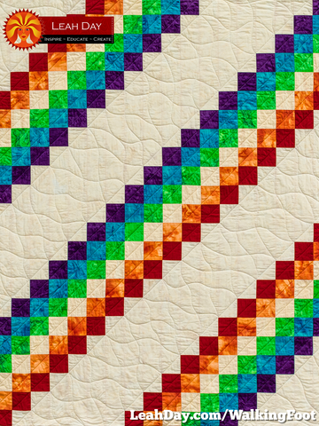 Prism Path Walking Foot Quilting Baby Quilt