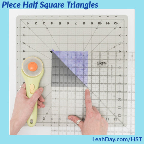 how to piece half square triangles | beginner quilting tutorial