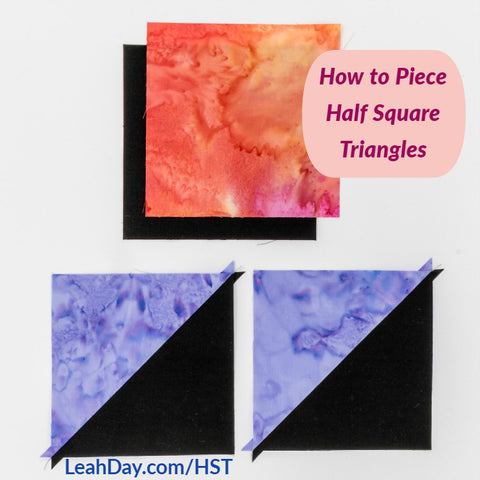how to make half square triangles quilting tutorial