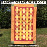 Basket Weave with QCT Quilt Panel