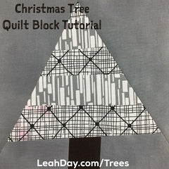 Christmas tree quilt block | Christmas tree quilt pattern