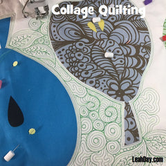 Collage Style Free Motion Quilting