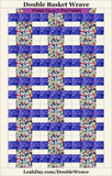 Double Basket Weave Quilt Pattern