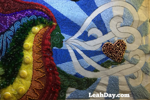 Express Your Love goddess art quilt embroidery
