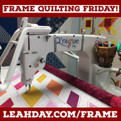 Longarm Frame Quilting Friday