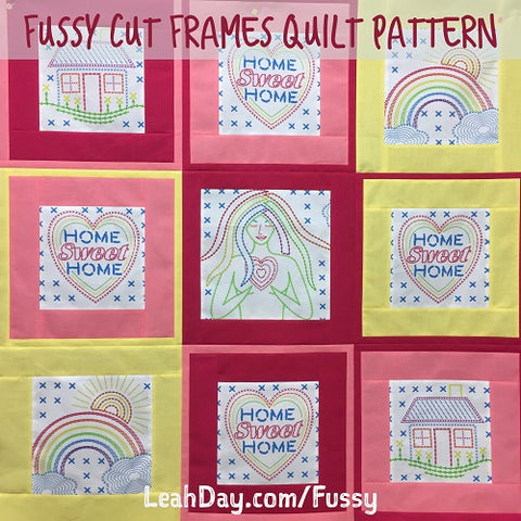 Fussy Cut Frames Quilt | Home Sweet Home Fabric