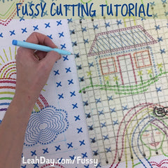How to Fussy Cut Fabric Designs